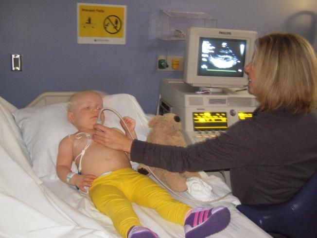 Allistaire getting her echocardiogram last week